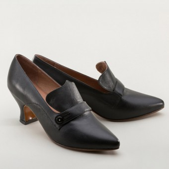 """Moliere"" Edwardian Pumps (Black)(1900-1925)"