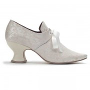 """""""Pompadour"""" French Court Shoes (White)(1680-1760)"""