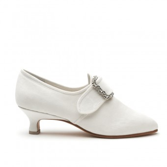 """Dunmore"" 18th Century Shoes (Dyeable Sateen)(1770-1790)"