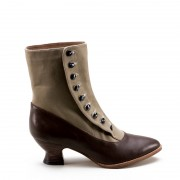 """Manhattan"" Button Boots (Brown/Tan, imperfect)(1890-1920)"