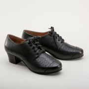 """Ruth"" 1940s Oxfords  (Black)"