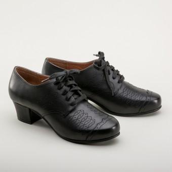 Ruth 1940s Oxfords  (Black)
