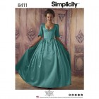 Simplicity 8411 18th Century Costume Sewing Pattern