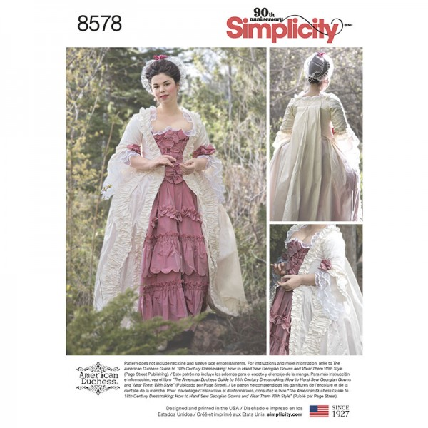 American Duchess : Simplicity 8578 18th c. Robe a la Francaise ...