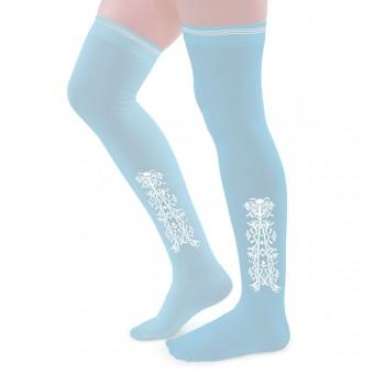Clocked Silk Stockings (Blue)