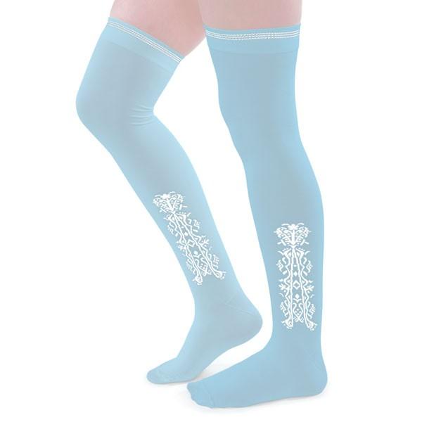 american duchess clocked silk stockings blue