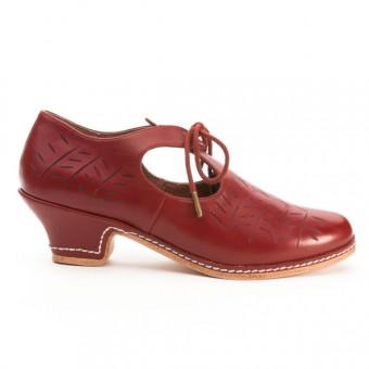 """""""Stratford"""" Elizabethan Shoe (Oxblood)(1580-1630)"""