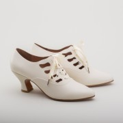 """Theda"" Edwardian Shoes (Ivory)(1900-1925)"