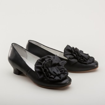 """Tissot"" Victorian Pumps (Black)(1850-1880s)"