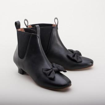 """""""Vienna"""" Victorian Congress Boots (Black)(1850-1880s)"""