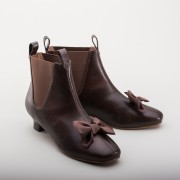 """Vienna"" Victorian Congress Boots (Brown)(1850-1880s)"